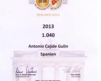 Berliner Wein trophy 2015. 1040 de Sameirás Medalla de Oro.